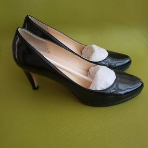 Cole Haan Patent Leather Pointed Toe Pumps…